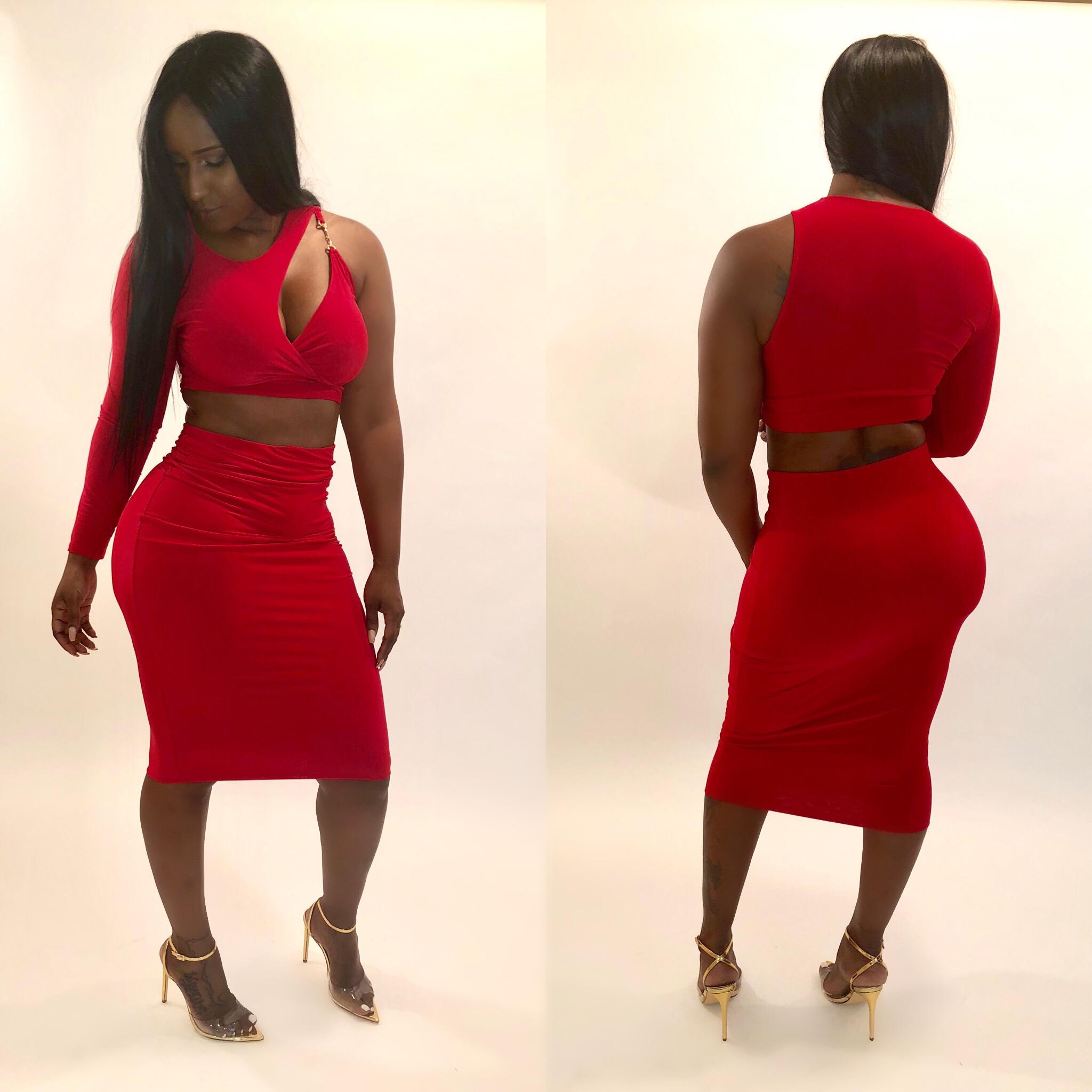 2 piece long dress